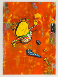 OSGEMEOS (b. 1974) Close Encounters, 2016 Lithograph in colors on White BFK Rives paper 38 x 28-1