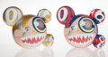 Collectible, Takashi Murakami X ComplexCon. Mr. Dob (set of 2), 2016. Painted cast vinyl. 9-1/4 x 10-3/4 inches (23.5 x 27.3 cm) (eac... (Total: 2 Items)
