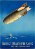Movie Posters:Miscellaneous, Traversez L'antlantique en 2 Jours (Deustsche Zeppelin-Ree...