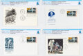 """Explorers:Space Exploration, Philatelia: """"First Man On The Moon"""" Stamp Collection of Fo..."""