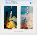 Explorers:Space Exploration, Gemini 8 and Agena Launches Color Photo, Direct...