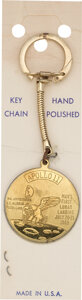 Explorers:Space Exploration, Jewelry: Apollo 11 Insignia Keychain Charm Directly From The Armstrong Family Collection™, CAG Certified....
