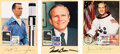 Explorers:Space Exploration, Apollo: Collection of Three Individually Signed Postcards ...