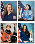 Explorers:Space Exploration, Space Shuttle Female Astronauts: Collection of Four Signed...
