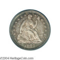 Proof Seated Half Dimes: , 1844 H10C PR65 Cameo PCGS. Triple Date. V-3. Both the 1 ...