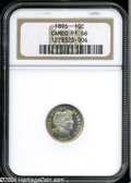 Proof Barber Dimes: , 1896 10C PR66 Cameo NGC. There is lovely light golden ...