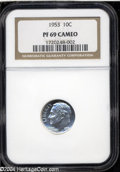 Proof Roosevelt Dimes: , 1953 10C PR69 Cameo NGC. From an original proof mintage ...