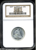 Seated Quarters: , 1877-S/S 25C MS64 NGC. Breen-4095. This repunched ...