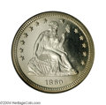 Proof Seated Quarters: , 1860 25C PR66 Cameo NGC. Ex: P. Kaufman. Even though Mint ...