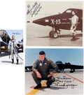 Explorers:Space Exploration, X Plane Pilots: Collection of Three Individually Signed Ph...