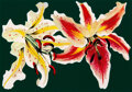 Prints & Multiples, Lowell Nesbitt (American, 1933-1993). Two Spotted Lillies, 1979. Offset lithograph and screenprint in colors on wove pap...