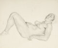 Works on Paper, Norman Alfred William Lindsay (Australian, 1879-1969). Athene. Pencil on paper. 23-1/4 x 14-3/4 inches (59.1 x 37.5 cm) ... (Total: 2 Items)