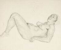 Norman Alfred William Lindsay (Australian, 1879-1969) Athene Pencil on paper 23-1/4 x 14-3/4 inch