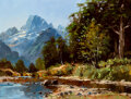 Paintings, Peter Beadle (New Zealander, b. 1933). Diamond Peak, 1987. Oil on board . 18 x 24 inches (45.7 x 61.0 cm). Signed lower ...