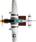 """Explorers:Space Exploration, Chuck Yeager Signed P-51D Mustang """"Glamorous Glen III"""" Model, 1/24 Scale, with Zarelli LOA...."""