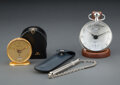 Clocks & Mechanical, A Group of Three Continental Articles, 20th century. Marks to largest: HERMÈS-PARIS, PE-BO1.810, 2352048. 3 x 2-1/2 inch... (Total: 3 Items)