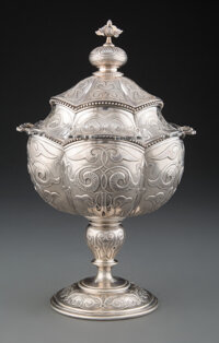 A Tiffany & Co. Silver Covered Sugar Bowl, New York, circa 1860 Marks: TIFFANY & Co., QUALITY 925/1000, 547 M 91...