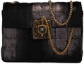Luxury Accessories:Bags, Chanel Limited Edition Dark Gray Distressed Leather & Ponyhair Paris-Byzance Flap Bag with Aged Gold Hardware. Condition: ...