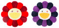 Collectible, Takashi Murakami (b. 1962). Flower Cushion (two works), early 21st century. Polyester plush pillows. 36 inches (91.4 cm)... (Total: 2 Items)
