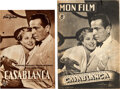 """Movie Posters:Academy Award Winners, Casablanca (Warner Bros., 1952/1947). Fine/Very Fine. First Post-War Release German Program (4 Pages, 7"""" X 10.25"""") & First P... (Total: 2 Items)"""