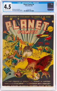 Planet Comics #6 (Fiction House, 1940) CGC VG+ 4.5 Cream to off-white pages