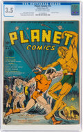 Golden Age (1938-1955):Science Fiction, Planet Comics #12 (Fiction House, 1941) CGC VG- 3.5 Off-white to white pages....