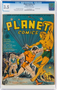 Planet Comics #12 (Fiction House, 1941) CGC VG- 3.5 Off-white to white pages