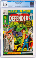 Bronze Age (1970-1979):Superhero, Marvel Feature #1 The Defenders (Marvel, 1971) CGC VF+ 8.5 White pages....