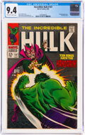 Silver Age (1956-1969):Superhero, The Incredible Hulk #107 (Marvel, 1968) CGC NM 9.4 Off-white to white pages....