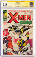 Silver Age (1956-1969):Superhero, X-Men #1 Signature Series - Stan Lee (Marvel, 1963) CGC FN- 5.5 Off-white to white pages....