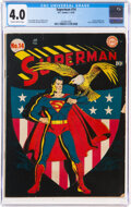 Golden Age (1938-1955):Superhero, Superman #14 (DC, 1942) CGC VG 4.0 Slightly brittle pages....