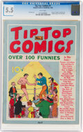Platinum Age (1897-1937):Miscellaneous, Tip Top Comics #1 (United Feature Syndicate, 1936) CGC FN- 5.5 White pages....