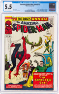 Silver Age (1956-1969):Superhero, The Amazing Spider-Man Annual #1 (Marvel, 1964) CGC FN- 5.5 Cream to off-white pages....