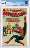 Silver Age (1956-1969):Superhero, The Amazing Spider-Man #10 (Marvel, 1964) CGC FN 6.0 White pages....