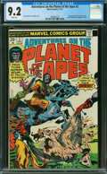 Bronze Age (1970-1979):Science Fiction, Adventures on the Planet of the Apes #2 (Marvel, 1975) CGC NM- 9.2 White pages.