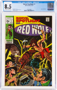 Marvel Spotlight #1 Red Wolf (Marvel, 1971) CGC VF+ 8.5 Off-white to white pages