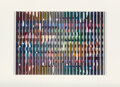 Prints & Multiples, Yaacov Agam (b. 1928). Polymorph, circa 1980. Serigraph polymorph in colors on paper. 13-1/4 x 19 inches (33.7 x 48.3 cm...