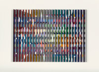 Yaacov Agam (b. 1928) Polymorph, circa 1980 Serigraph polymorph in colors on paper 13-1/4 x 19 in