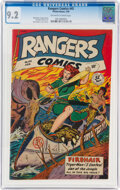 Golden Age (1938-1955):Adventure, Rangers Comics #45 (Fiction House, 1949) CGC NM- 9.2 Off-white to white pages....