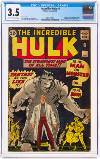 The Incredible Hulk #1 (Marvel, 1962) CGC VG- 3.5 Cream to off-white pages
