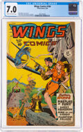 Golden Age (1938-1955):Adventure, Wings Comics #104 (Fiction House, 1949) CGC FN/VF 7.0 Cream to off-white pages....