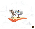 Animation Art:Limited Edition Cel, Zoom and Bored Road Runner and Wile ...