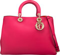 Luxury Accessories:Bags, Christian Dior Hot Pink Calfskin Leather Large Diorissimo ...