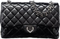 "Luxury Accessories:Bags, Chanel Black Quilted Patent Leather Jumbo Heart Flap Bag with Silver Hardware. Condition: 3. 12"" Width x 8"" Height x 3..."