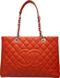 Luxury Accessories:Bags, Chanel Red Quilted Caviar Leather Grand Shopping Tote Bag ...