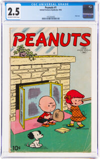 Peanuts #1 (United Feature Syndicate, 1953) CGC GD+ 2.5 Off-white to white pages