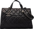 "Luxury Accessories:Bags, Chanel Black Quilted Glazed Caviar Leather Crave Tote Bag with Ruthenium Hardware. Condition: 3. 14"" Width x 9"" Height..."