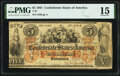 Confederate Notes:1861 Issues, T31 $5 1861 PF-1 Cr. 243 PMG Choice Fine 15.. ...