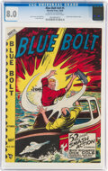 Golden Age (1938-1955):Adventure, Blue Bolt V9#5 (Novelty Press, 1948) CGC VF 8.0 Cream to off-white pages....