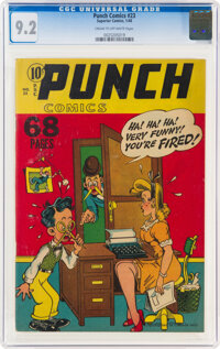 Punch Comics #23 (Chesler, 1948) CGC NM- 9.2 Cream to off-white pages